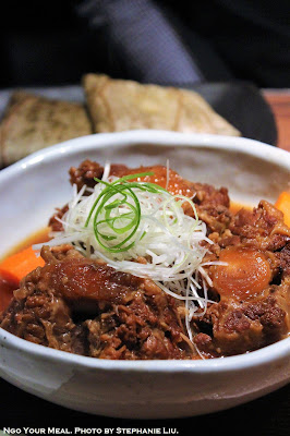 Slow Cooked Oxtail with Root Vegetables at Oiji in New York City