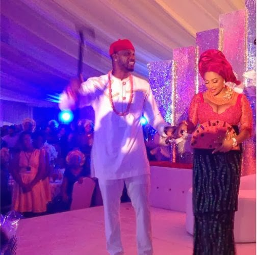 BZStcgzCQAA rIFh Photos from Peter Okoye and Lola Omotayos traditional wedding