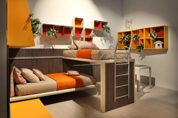 Dormitorios peque os para hermanos adolescentes for Habitacion juvenil dos camas
