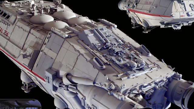 Original Battlestar Galactica filming miniature model