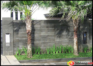 pagar batu alam minimalis terbaru