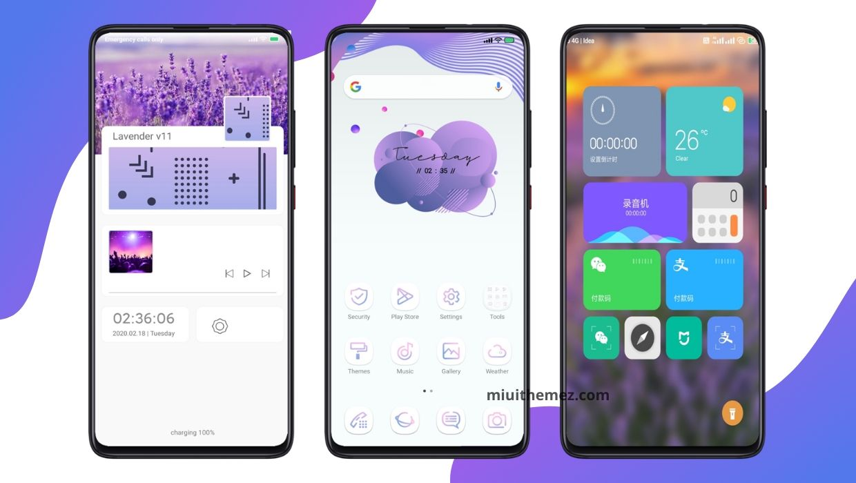 Lavender v11 [Updated] MIUI 11 Theme