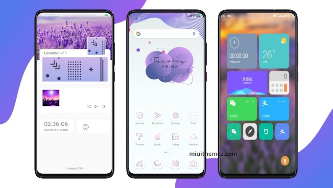 New Lavender v11 [Updated] MIUI 11 Theme | New UI and Look