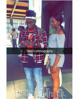 More photos of Reekado Banks and girlfrend Enem loved up in USA