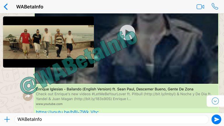 whatsapp youtube video playback in app