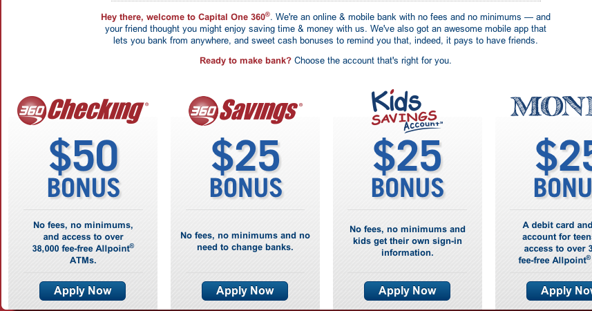Oren's Money Saver: $75 Free From Capital One Per Person