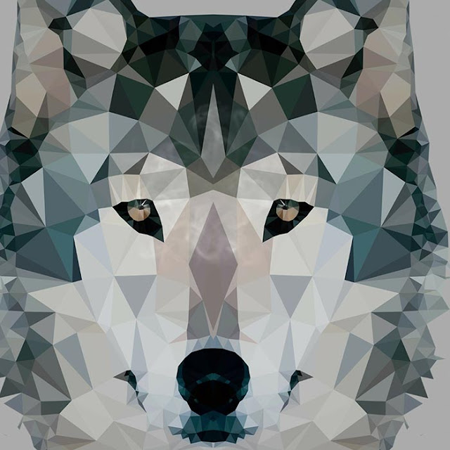 Wolf Polygon w Smoke Wallpaper Engine