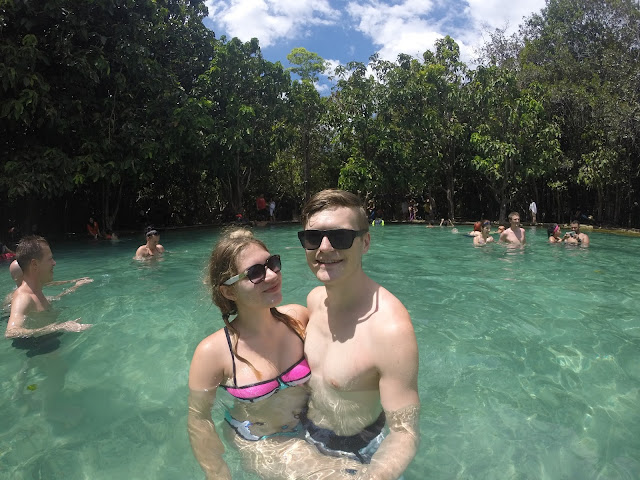 Emerald Pool krabi thailand couple