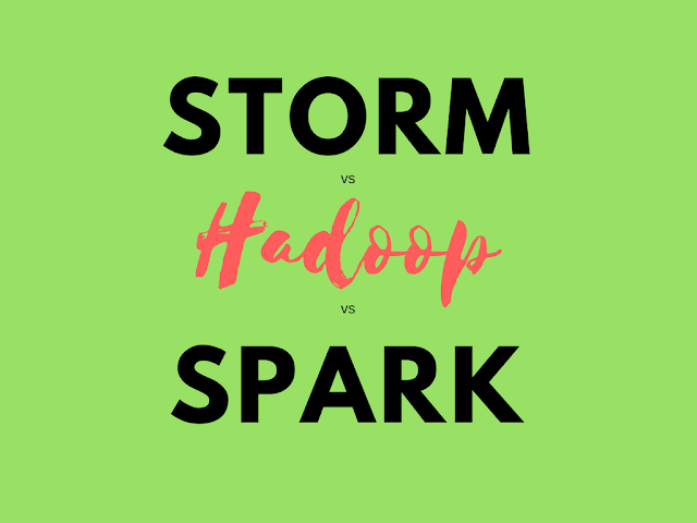 Storm, Spark, and Hadoop - Three Frameworks Comparison