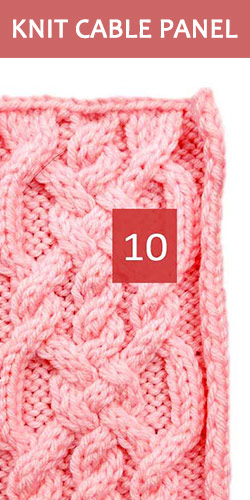 Knitted Cable Panel Pattern 10, its FREE