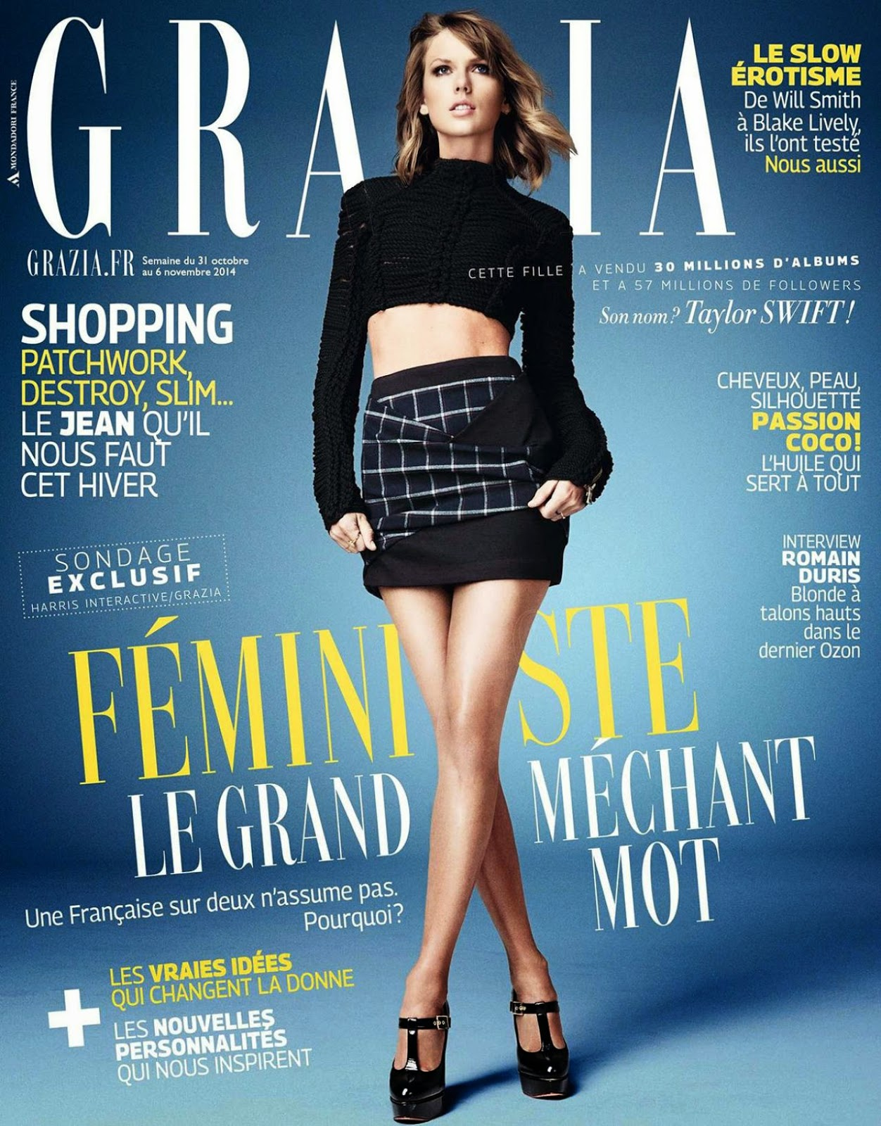 Taylor Swift covers Grazia magazine November 2014
