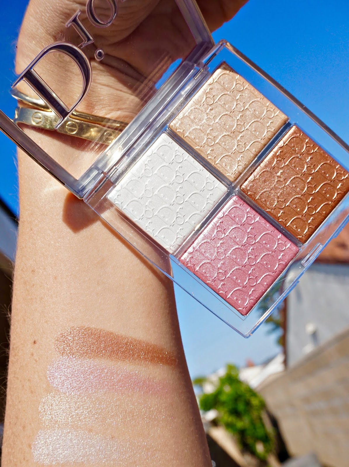 dior backstage glow face palette swatches