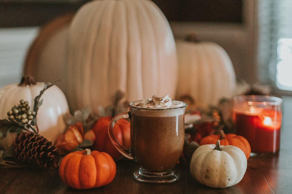 at home psl, pumpkin spice latte, pumpkin spice, psl, xo samantha brooke, life and messy hair, nc blogger, lifestyle blogger, nc photographer