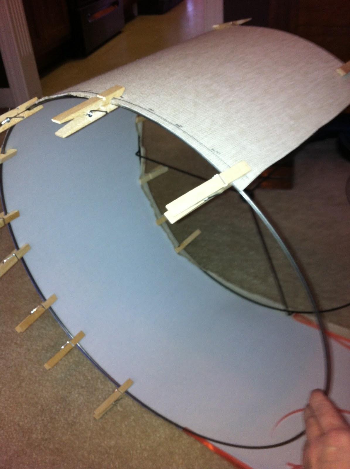 Ella Dean Design Making My Drum Lamp Shade