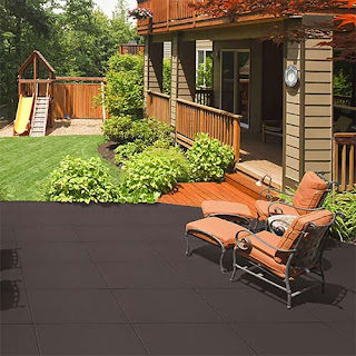 Greatmats rubber patio tiles