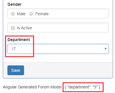 angular dropdown selected value
