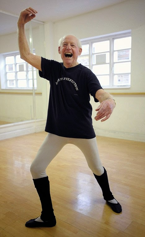 John Lowe shows off some moves the Ballet Studio while in his 90s. Grandpa-de-deux. marchmatron.com