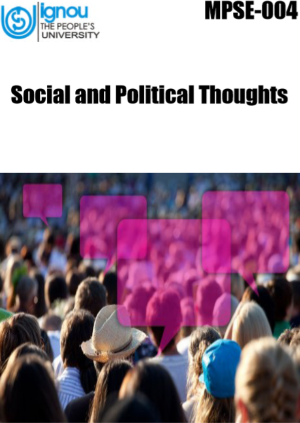 IGNOU Social and Political Thoughts : For UPSC Exam PDF Book