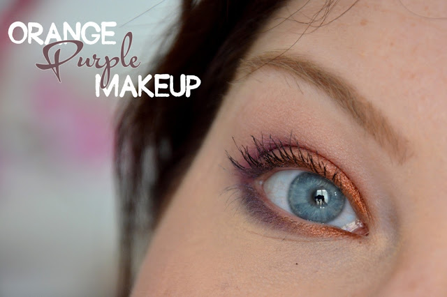 Orange purple Makeup