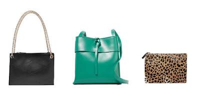 Черная, зеленая и леопардовая сумки