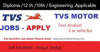TVS motor job vacanncies 2017