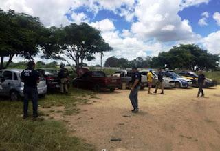 Veículos apreendidos pela Polícia Civil e PRF