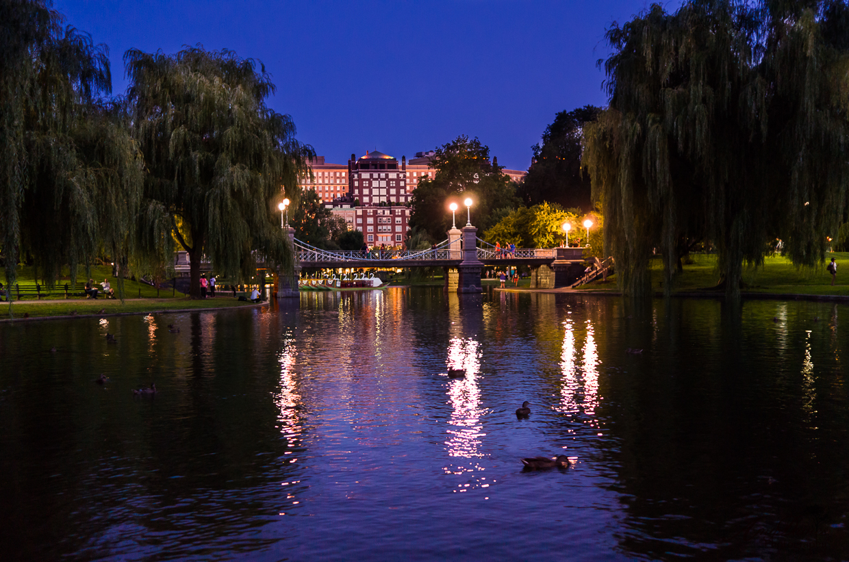 Boston Gardens at the blue hour  Capture My World
