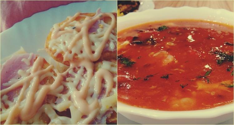 zupa krewetkowa grzanki