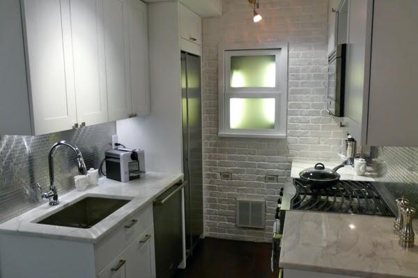 Small Kitchen Ideas White Brick Wall