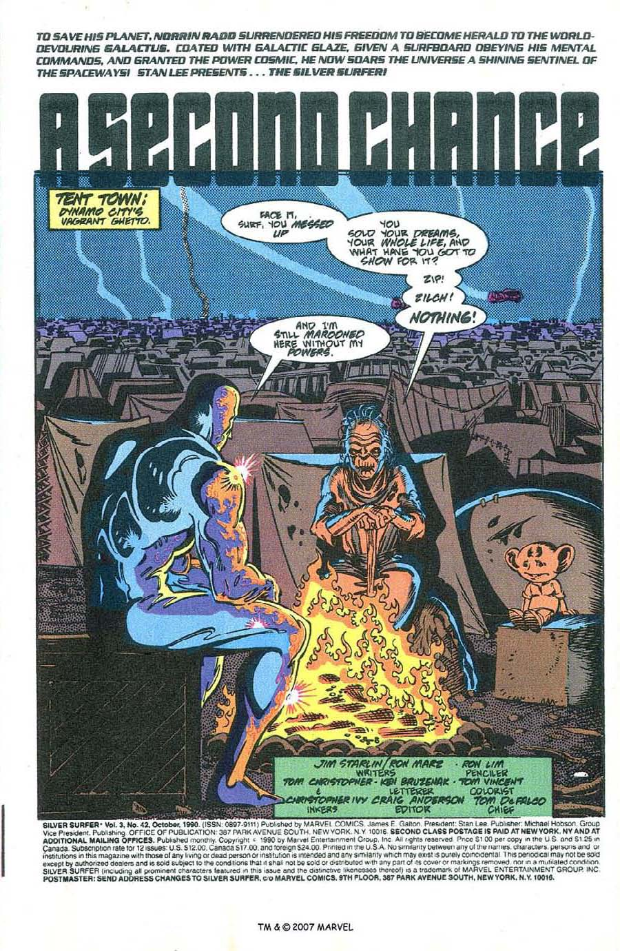 Read online Silver Surfer (1987) comic -  Issue #42 - 3