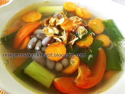 Cara Membuat Sup Kacang Merah Gurih Tanpa Daging RESEP SUP KACANG MERAH GURIH TANPA DAGING