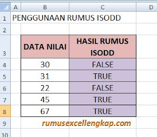 data 1 rumus ISODD
