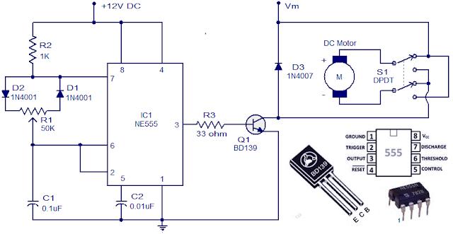 DC Motor Control Circuit Diagram   Electrical Engineering Blog