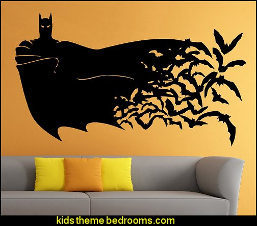 Decorating theme bedrooms maries manor superheroes for Batman wall mural decal