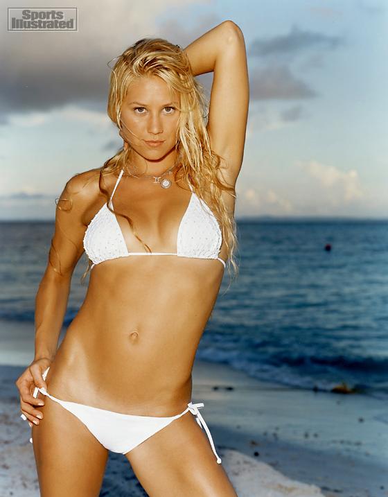 Anna Kournikova in white bikini