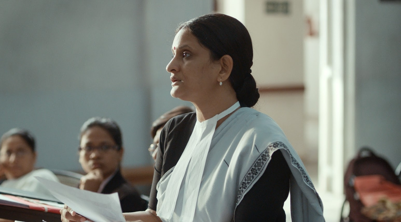 Geetanjali Kulkarni as public prosecutor Nutan, in Court, Directed by Chaitanya Tamhane