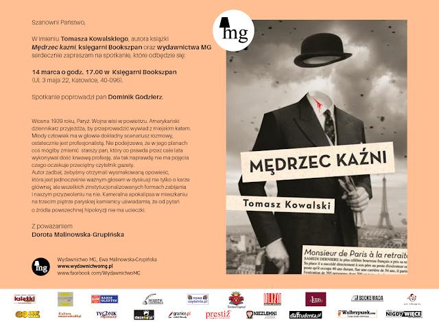 Zaproszenie Mędrzec Kaźni Bookszpan Katowice