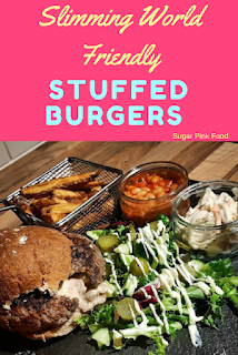 Slimming World cheese bacon onion stuffed burgers recipe