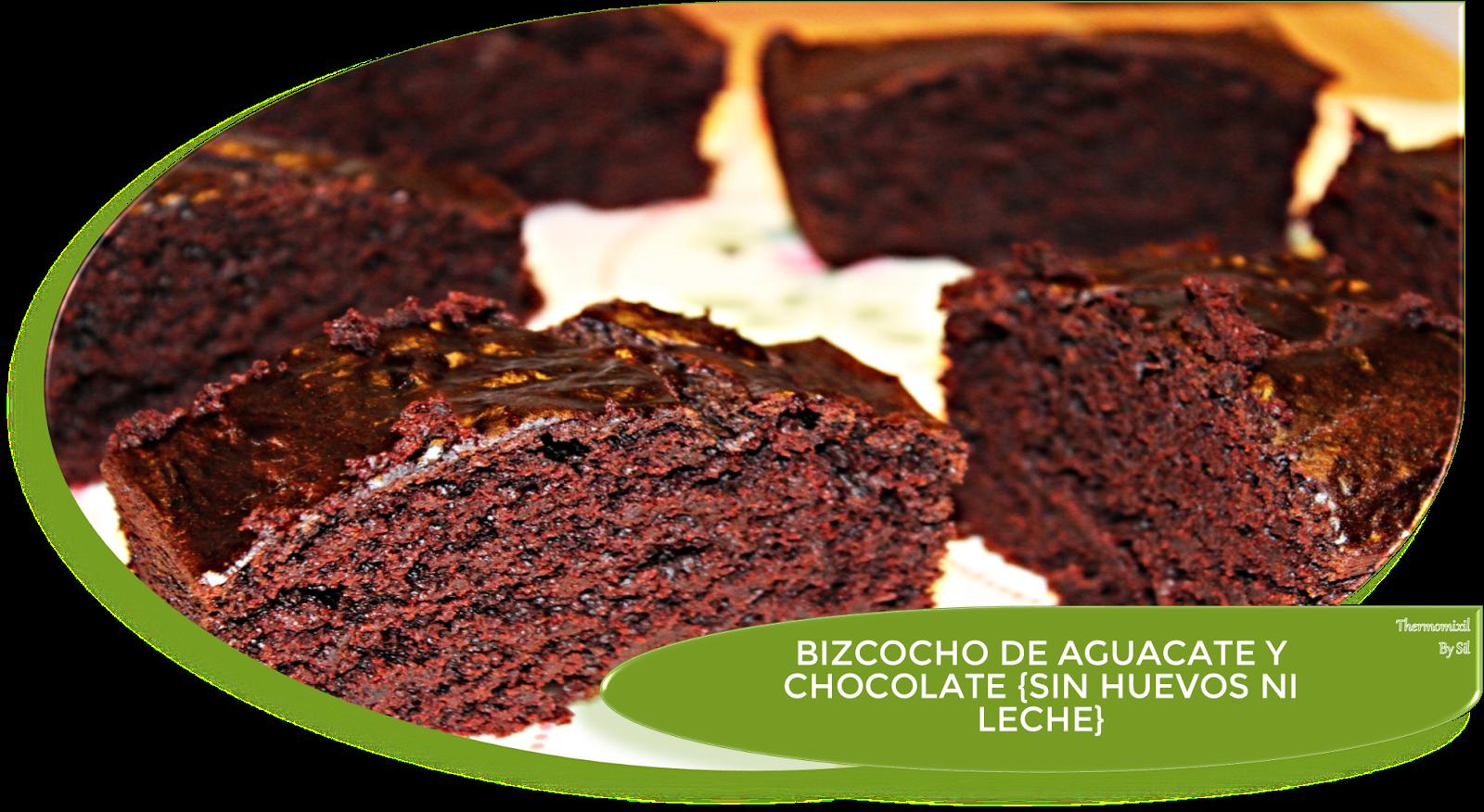 BIZCOCHO DE CHOCOLATE Y AGUACATE {SIN HUEVOS NI LECHE}