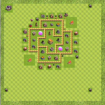 War Base Town Hall Level 6 By Buster falcon (Gds TH 6 Layout)