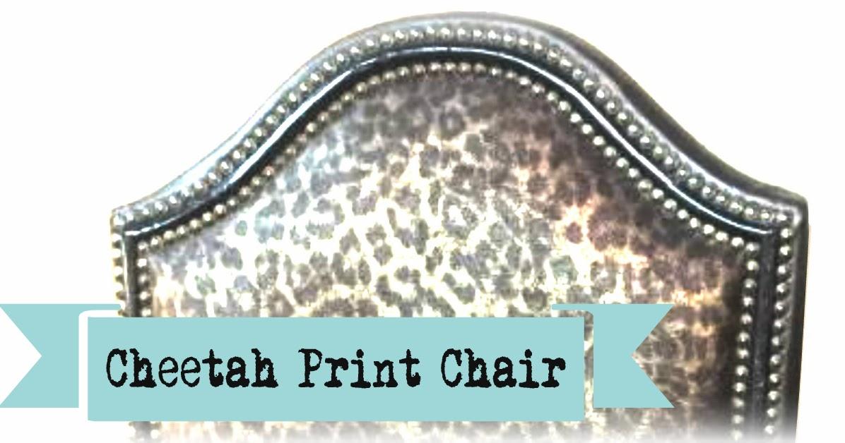 Listed Purrfectly Posh Cheetah Print Chair— $180