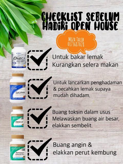 3 Tips ke rumah Terbuka, Checklist sebelum hadir rumah terbuka, omega guard, Lecithin, Herbalax, Peppermint ginger, adab ke rumah orang, adab sebagai tetamu