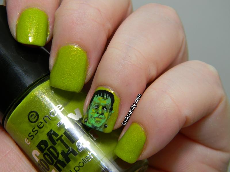 Día 4 : Verde / Frankenstein Nail art - Toxic Vanity
