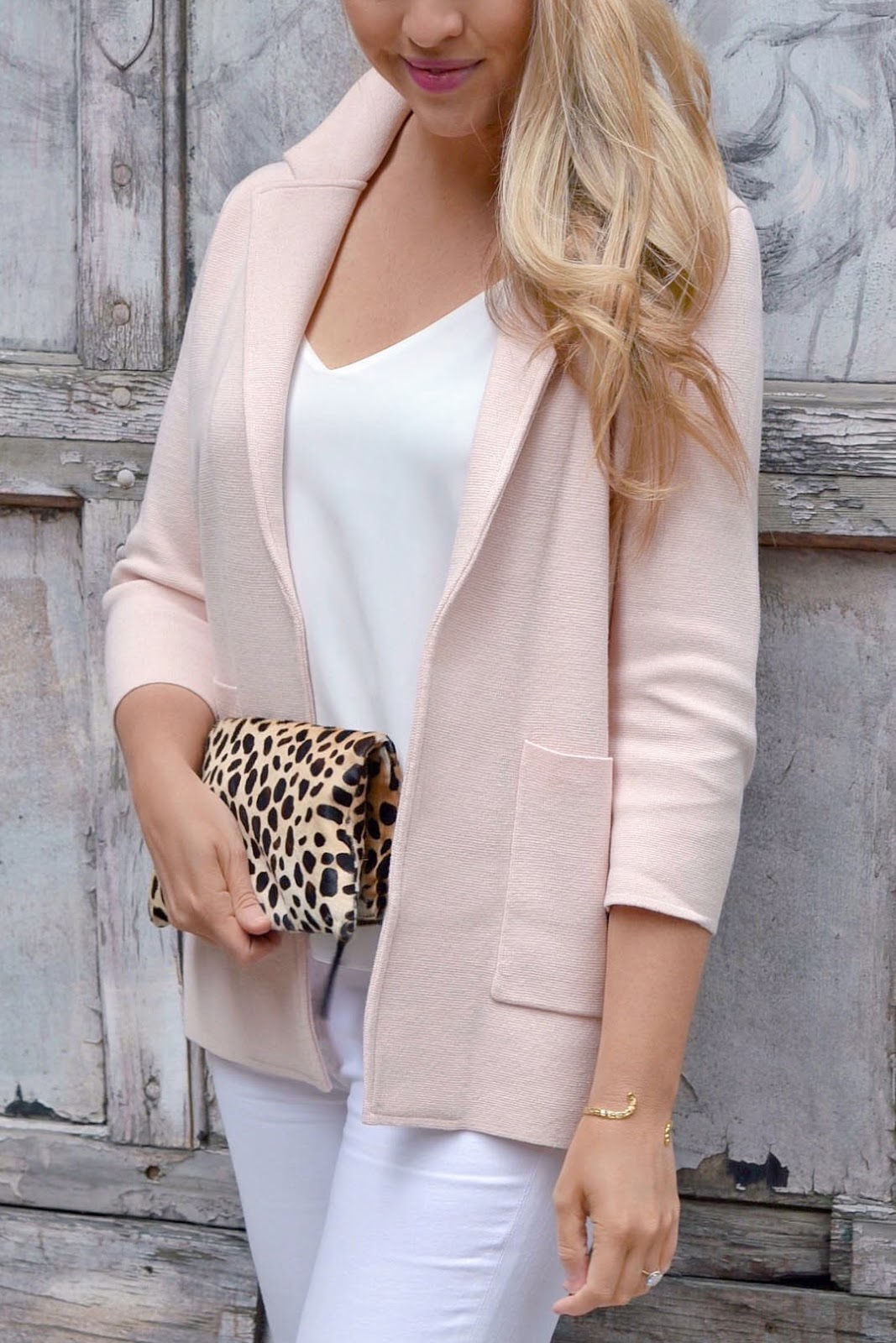 j crew open front sweater blazer