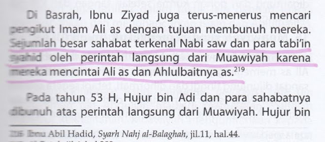 Syiah Menuduh Muawiyah Dalang Membunuh Sahabat Nabi dan Para Tabi'in