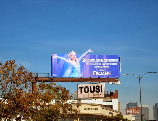 Frozen Oscar consideration billboard