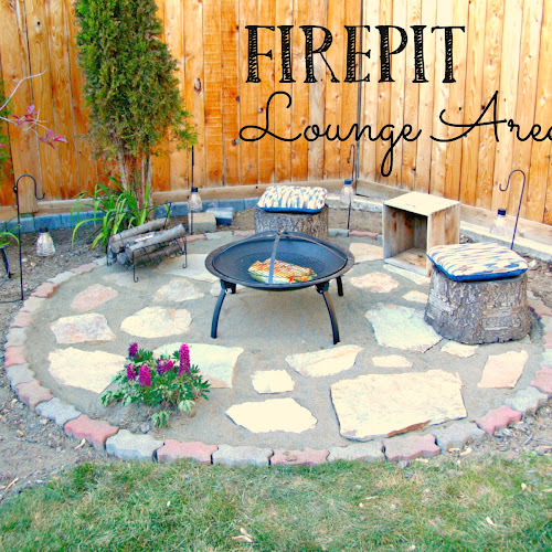 Finished Firepit Lounge Area - Weekend Yard Work Series