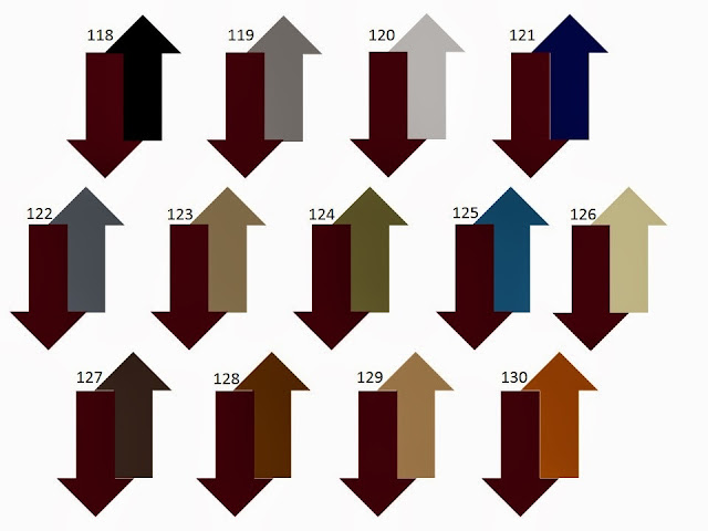 13 combinations of a secondary neutral color with maroon or burgundy