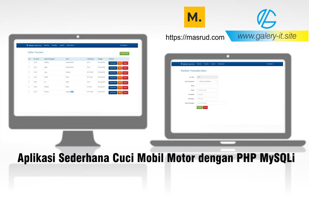 Software Sederhana Cuci Mobil Dan Motor Dengan Php Dan