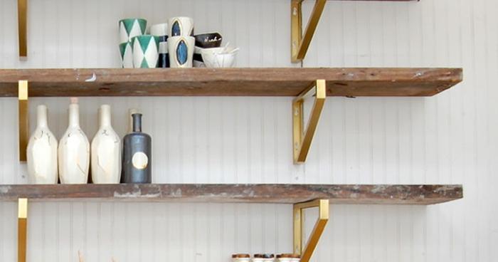 Ikea Hack Brass Shelves Sticky Bee